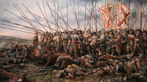 Cuadro de Augusto Ferrer-Dalmau sobre la batalla de Rocroi