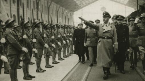 Himmler, a su llegada a Madrid