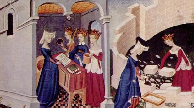 Ilustración del libro de Cristina Pisan «La Ciudad de las Damas»