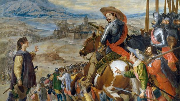 Cuadro del Museo del Prado del «Socorro de Brisach», sobre una de las batallas del conflicto europeo
