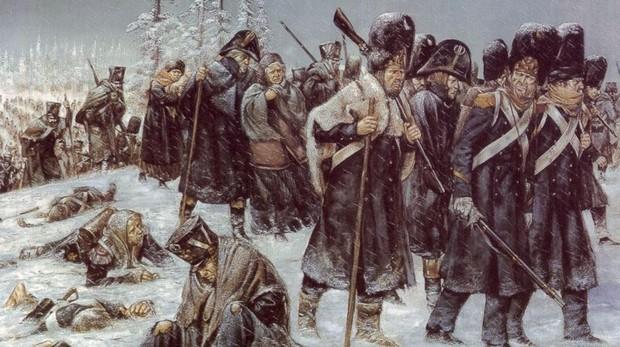Soldados franceses durante la invasión de Rusia