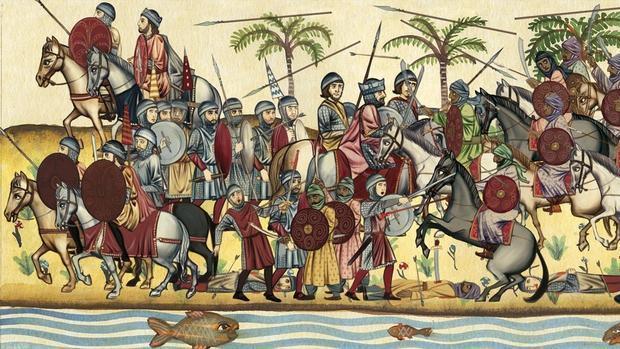 La derrota visigoda en la batalla de Guadalete