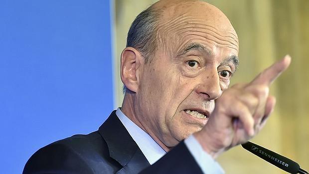 Alain Juppe, durante una rueda de prensa