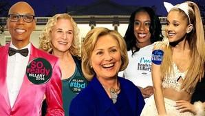¿Qué candidatos norteamericanos tienen más apoyo de famosos?
