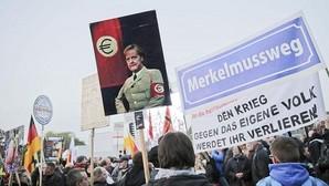 Manifestación contra la acogida de refugiados en Alemania