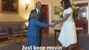 El baile de una anciana de 106 años que deja boquiabiertos a Barack y Michelle Obama