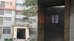 El ascensor donde se produjo el accidente