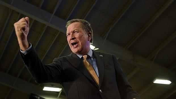 El republicano Kasich celebra su victoria en Ohio