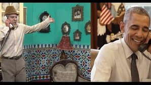 Obama, en un cameo con el cómico cubano Pánfilo horas antes de viajar a la isla