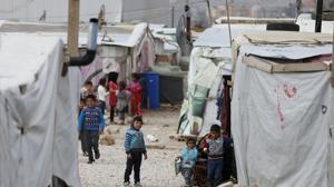 Decenas de refugiados sirios se preparan en Líbano para viajar a España
