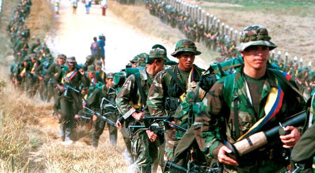 Una patrulla de las FARC en una imagen de archivo