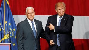 El gobernador de Indiana, Mike Pence, se perfila como «segundo» de Trump