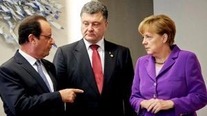 Hollande y Merkel urgen a Ucrania a evitar «una escalada» de violencia