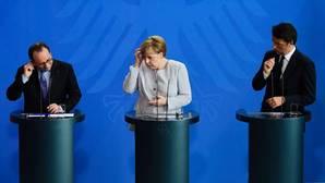 Hollande, Merkel y Renzi proclaman que «Europa no está acabada»