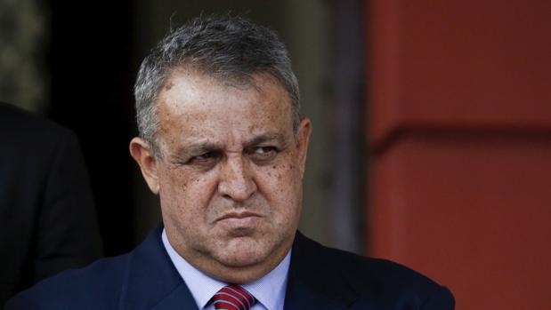 Del Pino durante una comparecencia en el Palacio de Miraflores el año pasado