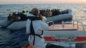 Imagen de uno de los rescates realizados en Italia el pasado domingo