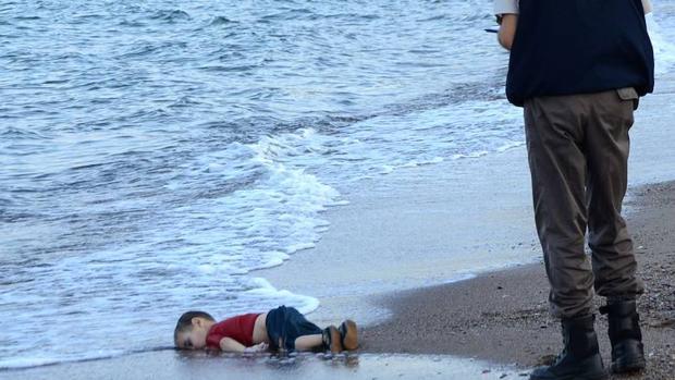 El niño Aylan Kurdi, ahogado en la costa de Turquía