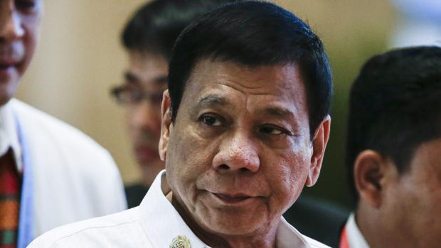 El presidente filipino, Rodrigo Duterte, durante la cumbre de la ASEAN en Vientián (Laos)