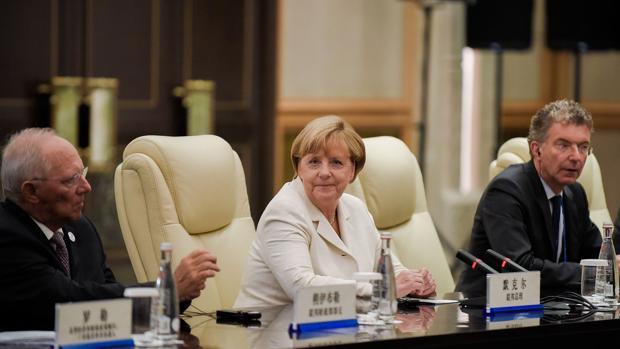 Merkel, este lunes en el G-20