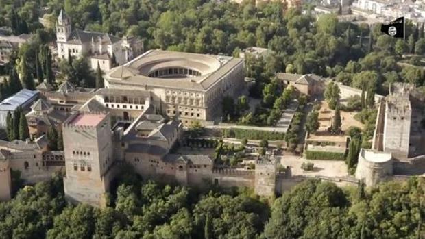 Imagen de la Alhambra de Granada que aparece en el último vídeo priopagandístico del grupo terrorista Daesh