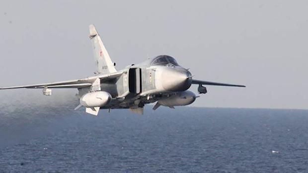Rusia desplegó dos Su-27 como respuesta al acercamiento de aviones estadounidenses