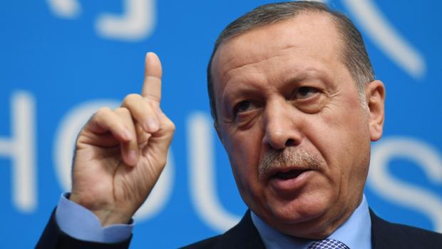 El presidente de Turquía, Recep Tayyip Erdogan, habla durante el cierre de la cumbre del G20 en China