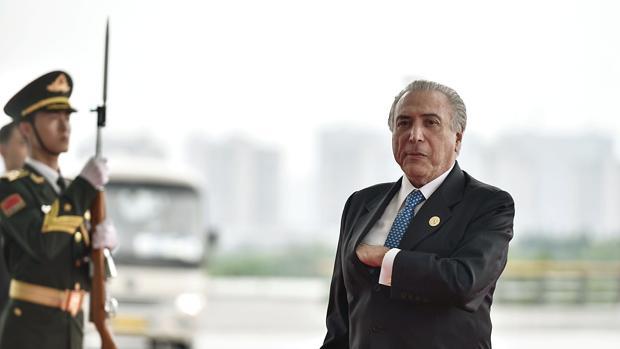 El presidente brasileño, Michel Temer, este lunes durante la cumbre del G-20 celebrada en China