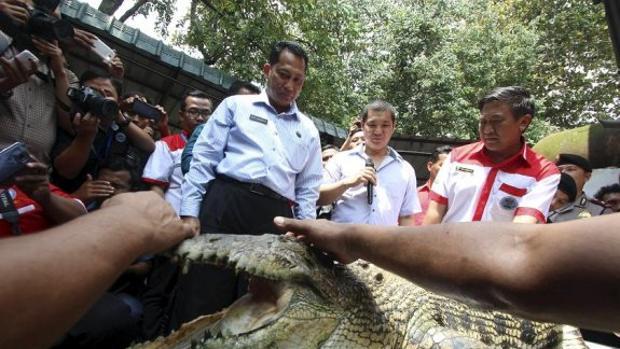 En 2014, Budi Waseso, jefe de antinarcóticos en Indonesia, planeaba construir una cárcel de máxima seguridad con un primer foso lleno de cocodrilos