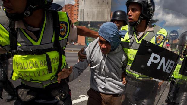 La Policía venezolana reprimió las protestas del pasado 1 de septiembre en Caracas