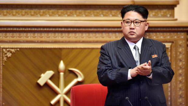 Kim Jong-un durante el congreso del partido único norcoreano