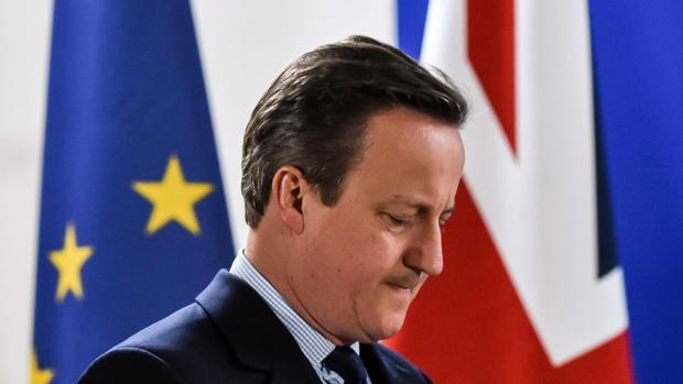 El exprimer ministro británico David Cameron durante una rueda de prensa en una cumbre de la Unión Europea el pasado 28 de junio