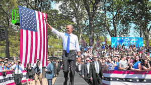 Obama encabeza una ofensiva demócrata al rescate de Clinton