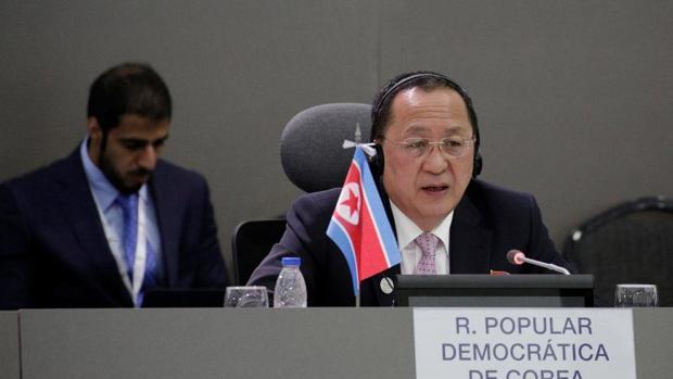 El ministro de Exteriores norcoreano, Ri Yong Ho, en una imagen de archivo