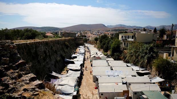 Campo de refugiados en la isla griega de Quíos