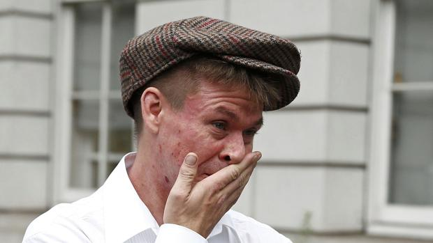 Lauri Love, a su llegada a los tribunales de Londres