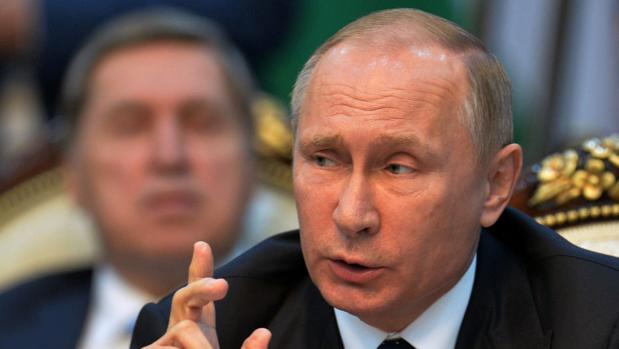 El presidente ruso Vladímir Putin durante su discurso en la Comunidad de Estados Independientes