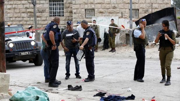 Militares israelíes tras el suceso