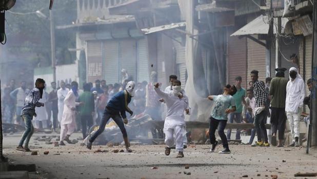 Disturbios en Cachemira hace varios días