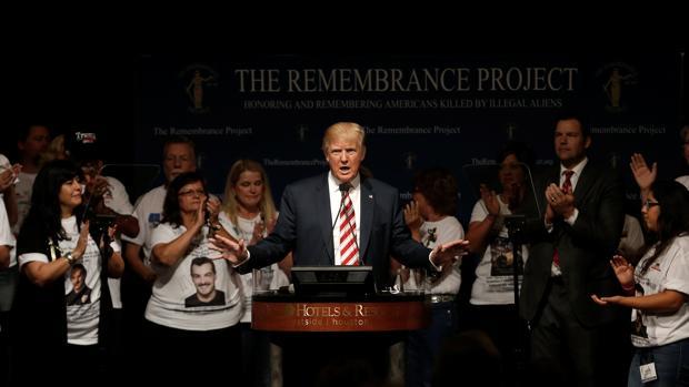 El candidato republicano, Donald Trump, este sábado en un acto de campaña en Texas