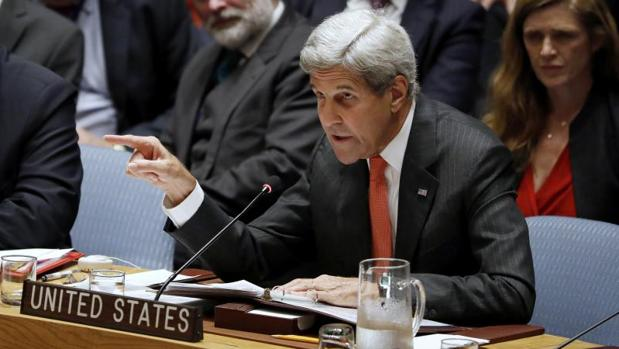 John Kerry, durante su intervención en el Consejo de Seguridad de la ONU