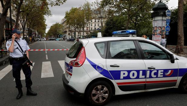 Imagen del despliegue policial del pasado sábado en París por una falsa alerta terrorista