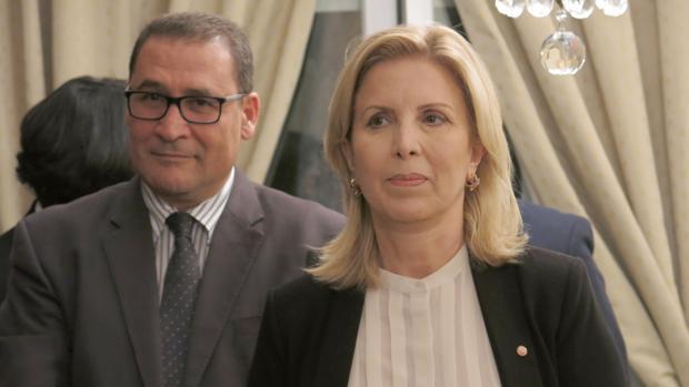 La ministra de Turismo de Túnez, Salma Elloumi Rekik, en un encuentro organizado por la embajada tunecina