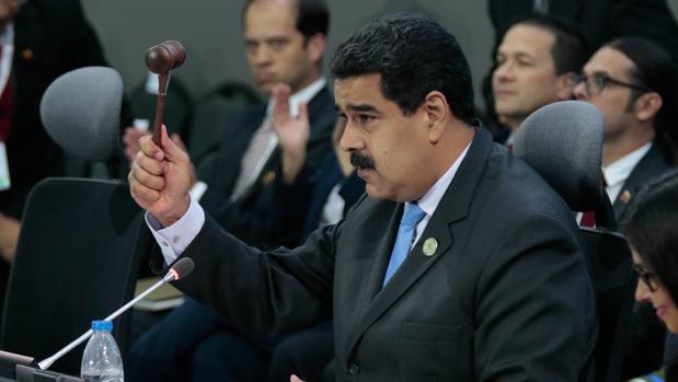 El presidente Nicolás Maduro, durante la clausura de la cumbre de los países No Alineados, el pasado domingo en Isla Margarita