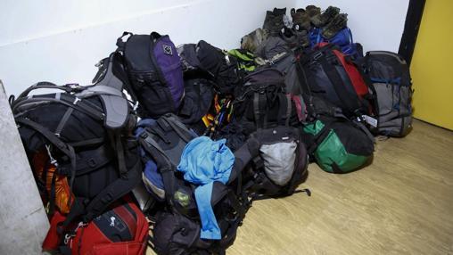 Las mochilas de los montañeros