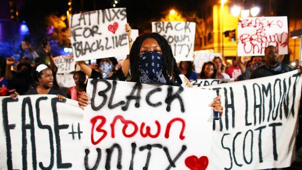 Imagen de los disturbios en Charlotte, Estados Unidos