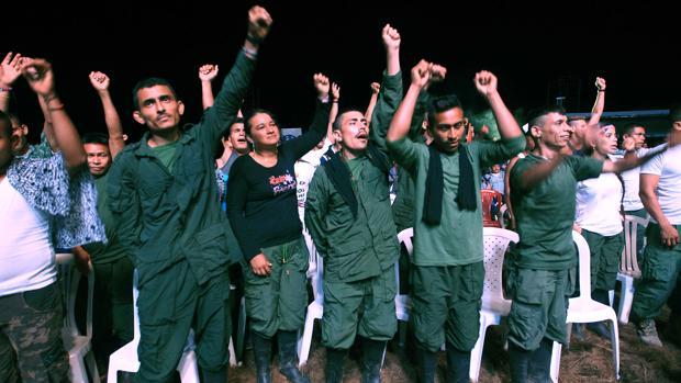 Guerrilleros de las FARC en los Llanos del Yarí, donde se ha celebrado la décima Conferencia