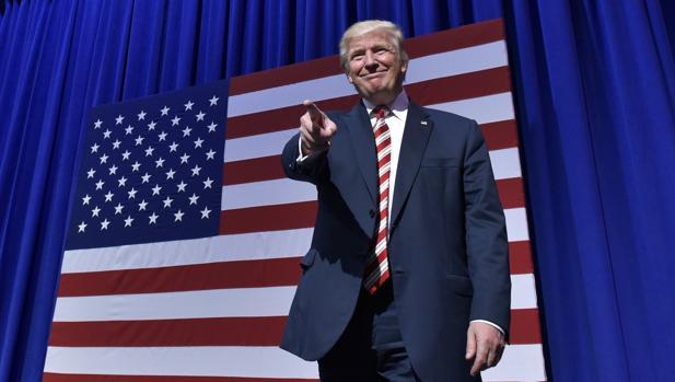 El candidato republicano, Donald Trump, durante un acto de campaña en Pensilvania