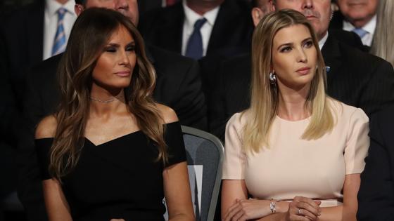 Melania e Ivanka Trump han estado presente entre el público en apoyo del aspirante republicano