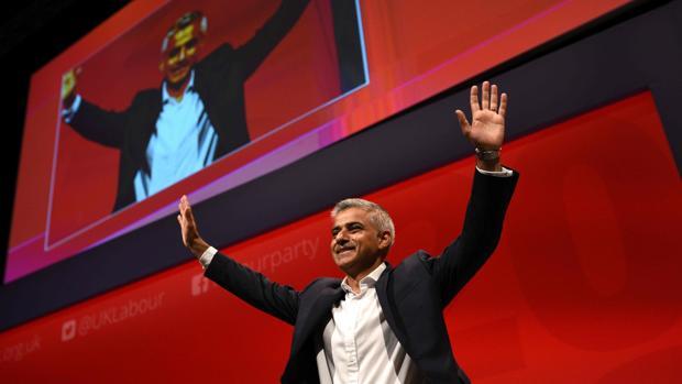 El alcalde de Londres, Sadiq Khan, durante su intervención este martes en el congreso del Partido Laborista, en Liverpool