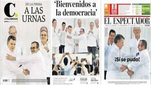 La prensa de Colombia se tiñe de blanco para celebrar el fin de «la horrible noche»